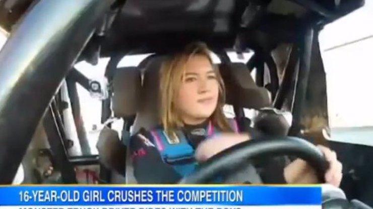 Teprve 16letá holka jezdí závody monster trucků: Podívejte se, jak válí!