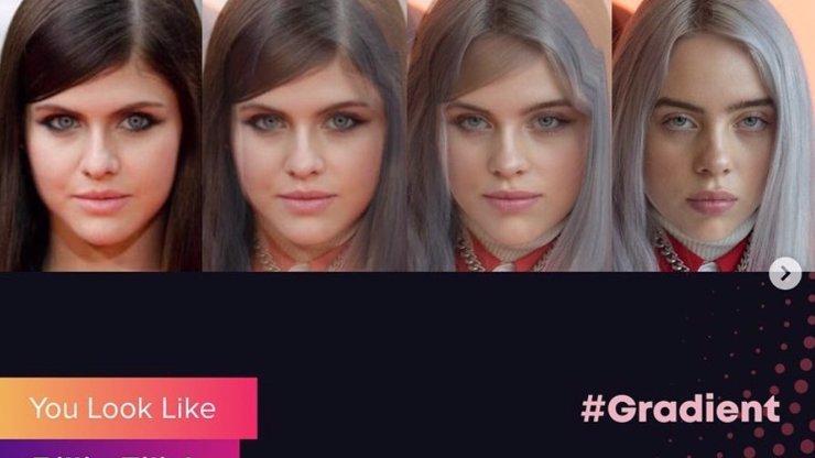 Sociální sítě ovládla aplikace Gradient: Ukáže vám, jaké celebritě se podobáte