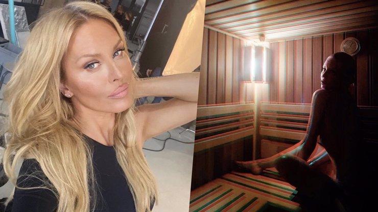 Hříšná Simona Krainová v sauně nahoře bez: A pak, že nemá silikony, píší lidé
