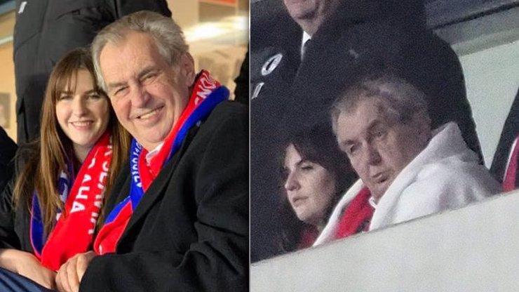 Najděte 10 rozdílů: Podivné fotky Zemana na fotbale, na kterých vypadá jako dva lidé