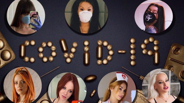 Lechtivé fotky v rouškách či speciální videa: Hvězdy filmů pro dospělé nezastaví ani koronavirus