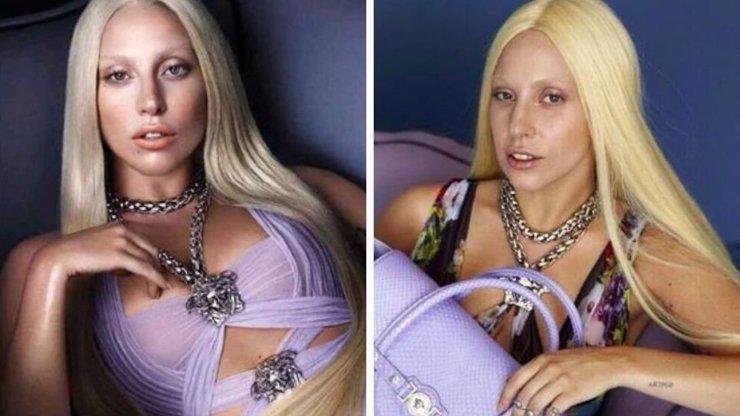 Na internet unikly neretušované fotky Lady Gaga. Vypadá tam jako vysolárkovaný babochlap s parukou