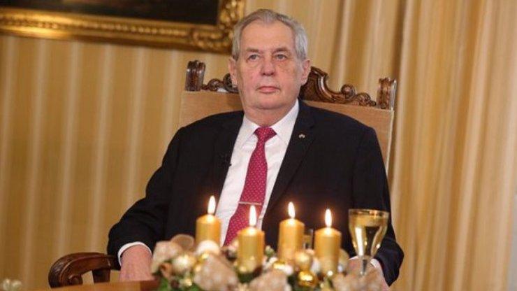 Miloš Zeman při vánočním poselství.