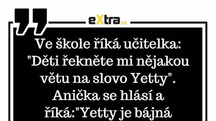 Jak poznat rozdíl mezi slovem Yetty a je ty?