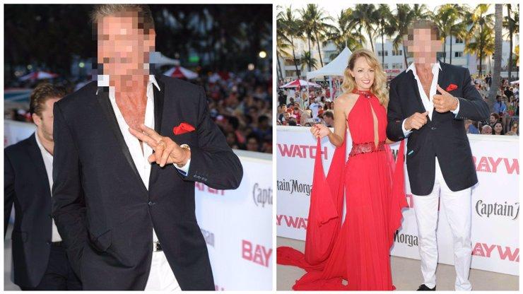 David Hasselhoff dorazil na premiéru nové Pobřežní hlídky a šokoval přítomné svým oplzlým vzhledem!