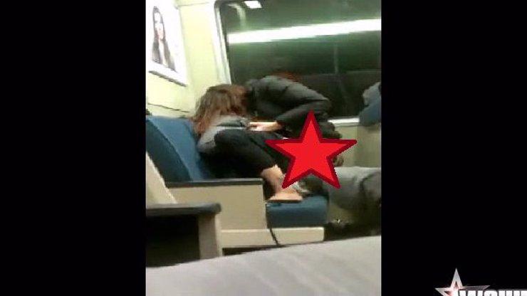 No tohle! Milenci si užívají divoký sex v metru a ani jim nevadí, že je někdo natáčí!