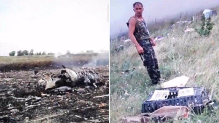 Šokující záběry po pádu MH17: Do pr**le, tohle je civilní letadlo, divili se separatisté a šli okrádat mrtvé pasažéry