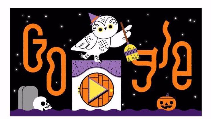 Halloween na Google: Na nejnavštěvovanější stránce v Česku si dnes můžete zařádit
