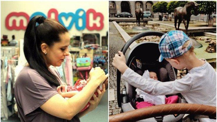 To je ale lásky! Moderátorka Laďka Něrgešová ukázala, jak její syn hlídá novorozenou sestřičku s podivným jménem