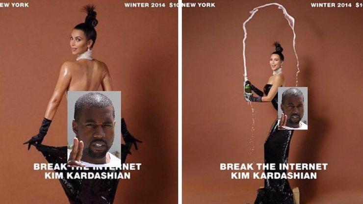 Kim Kardashian si natřela olejem obří zadnici, pak z ní udělala stůl a servíruje na něm šampaňské