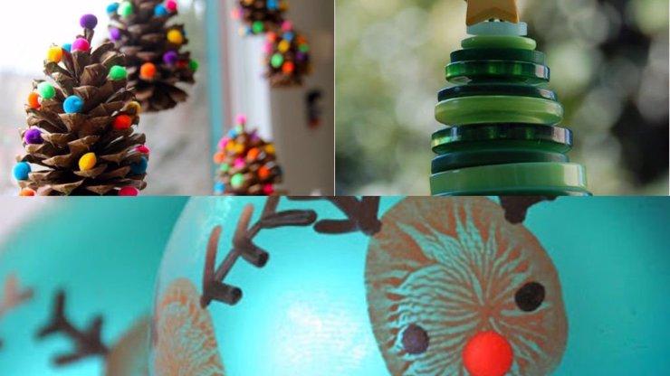 Jak zabavit děti před Vánoci? Vyrobte s nimi ozdoby na stromek, tady je inspirace!