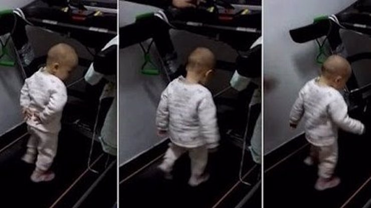 A co na to sociálka? Otec nutí své malé dítě běhat na pásu, křičí na něj a zvyšuje rychlost!