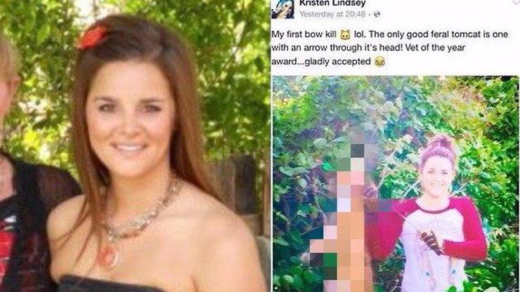 Veterinářka zabila lukem sousedovic kocoura a na Facebooku se pak chlubila, že město zbavila nebezpečné šelmy!