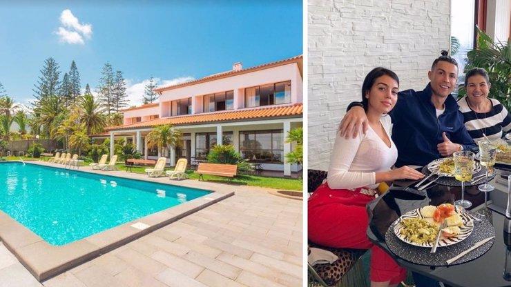 6 ložnic, bazén, herna a klid! Cristiano Ronaldo bojuje s epidemií ve vile na Madeiře
