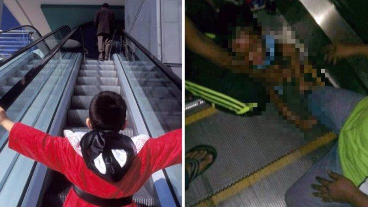 OBROVSKÁ TRAGÉDIE: Malému chlapci (3) rozdrtil genitálie eskalátor, když si na něj sedl. Otřesné fotografie uvnitř článku