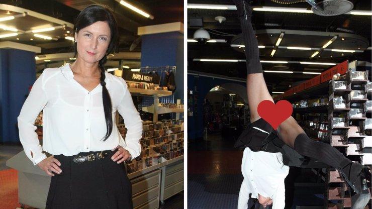 Bývalá anorektička Simona Chytrová předvedla, co nosí pod sukní a ukázala naplno rozkrok!