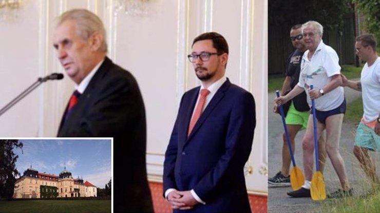 Letos žádná Vysočina: Prezident Zeman strávil volno na překvapivém místě