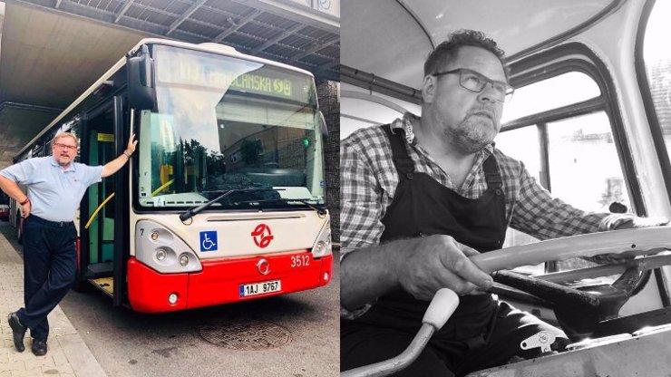 Václav Kopta si plní sen jako řidič autobusu: Lákalo mě to víc než herectví, je to řehole, vstávám ve 3 ráno