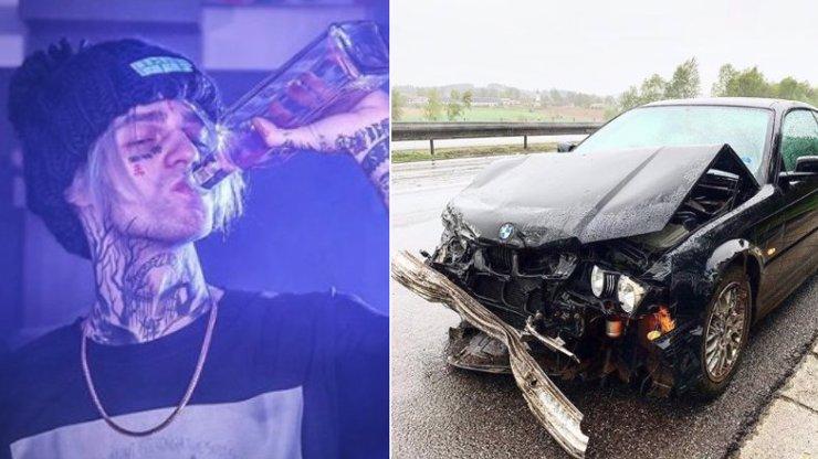 Slavný český rapper boural v BMW: Silný náraz na dálnici, auto na šrot!