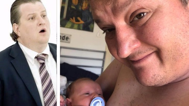 Tlustý bankéř z reklamy je tátou! Lenka (46) z Kanceláře Blaník mu porodila syna
