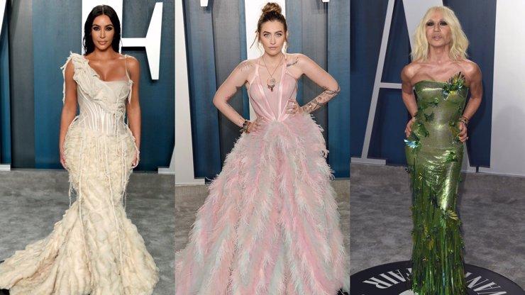 Vanity Fair Oscar party: Kim v divnošatech, úchvatná Paris Jackson a Donatella z bažin