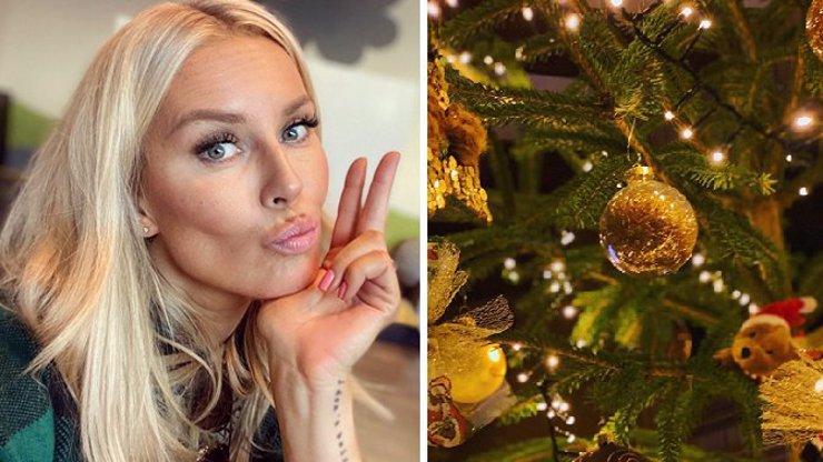 Simona Krainová ukázala, jak slaví Vánoce v přepychu. A pochlubila se i nádherným stromečkem