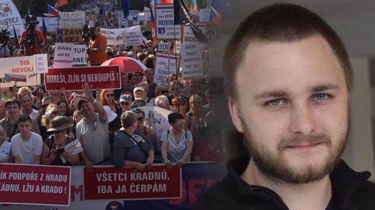 Organizátor demonstrace na Letné: Varovali nás před provokatéry, policie o nich ví