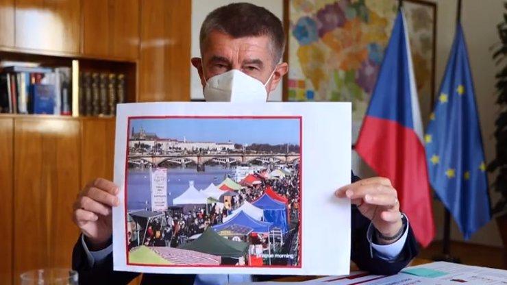 Premiér Babiš se rozohnil nad fotkou Náplavky: To je šílené! Je potřeba omezit kontakty