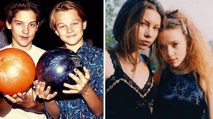 11 archivních fotografií celebrit. Kdo se vůbec nezměnil a koho byste na ulici nepoznali?