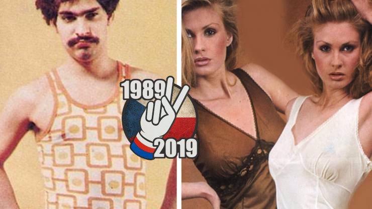Nátělníky, slipy a špičaté podprsenky: Takové spodní prádlo jsme nosili před 17. listopadem 1989