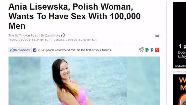 Polský sexuální buldozer Ania Lisewská už je slavný i v zámoří, Američané se modlí k Bohu, aby k nim nepřijel