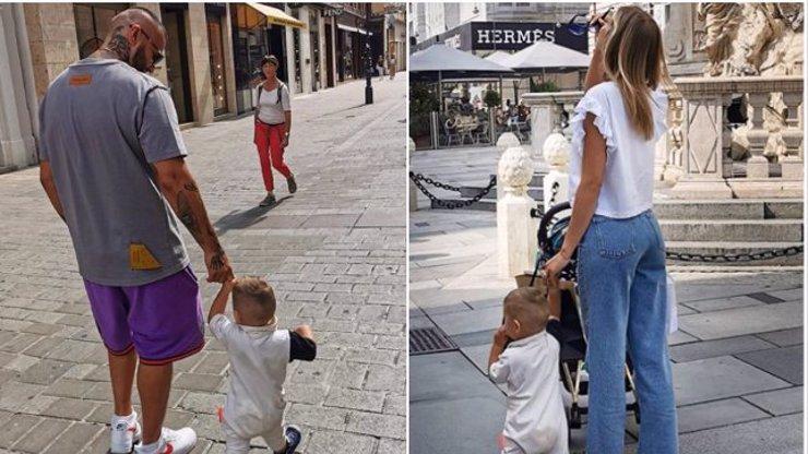 Rytmus a Jasmina Alagič se pochlubili prvními krůčky syna: Sanel roste jako z vody