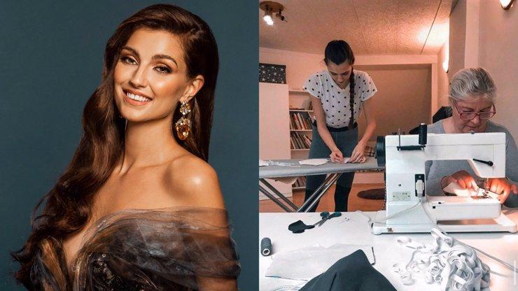Půvabná kráska s duší anděla: Vítězka Miss Czech Republic Kopíncová šila v karanténě roušky