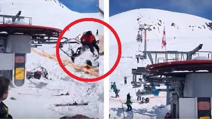 Na lanovce šlo o život: Vystrašení lidé popadali do sněhu! DĚSIVÉ VIDEO
