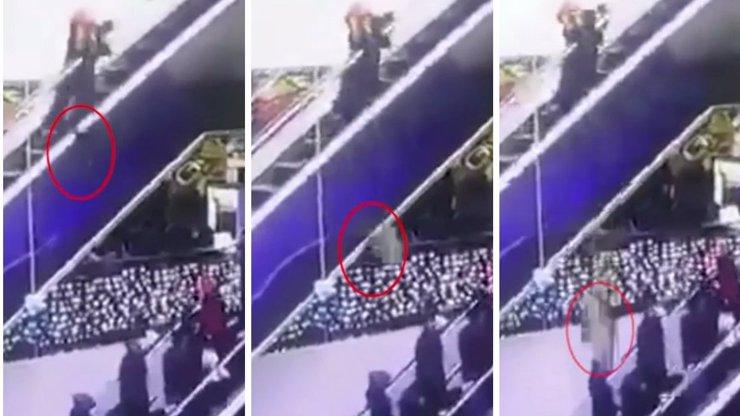 VIDEO TRAGICKÁ SMRT MALÉHO DÍTĚTE: Matce se zachytily šaty do eskalátoru, kojenec vypadl z 12metrové výšky na zem!