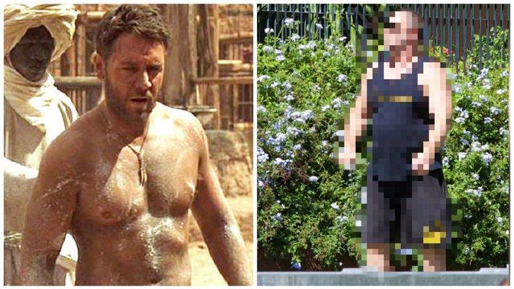 Russell Crowe svou postavu opět nezvládá, ze sexy Gladiátora je zavalitý pašík!