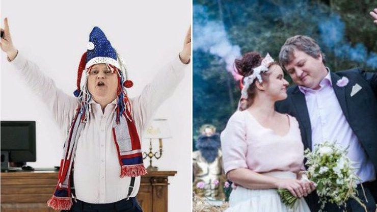 Slizký bankéř z reklamy Tomáš Jeřábek se oženil. Tajná svatba byla jedna velká party!
