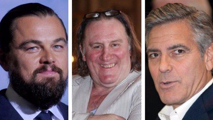 Co mu provedli? Gérard Depardieu se pustil do Leonarda DiCapria a George Clooneyho!