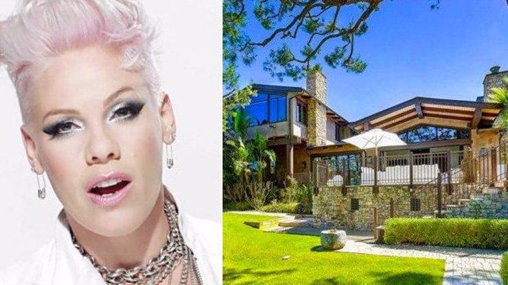 Bouřlivá zpěvačka Pink prodává své doupě neřesti v Malibu. Podívejte se na luxusní vilu, za kterou chce téměř 300 milionů