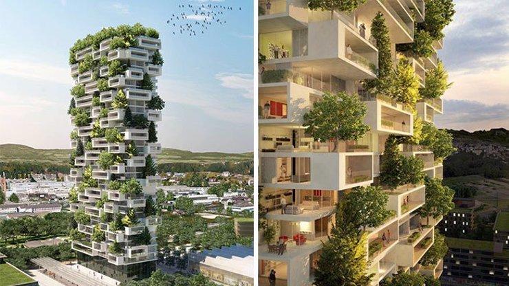 Podívejte se do budoucnosti: Tyto domy plné zeleně jednou nahradí ošklivé paneláky