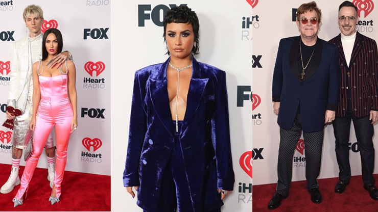 Móda z udílení hudebních cen: To Demi Lovato přišlo za almaru, dámy tasily dekolty