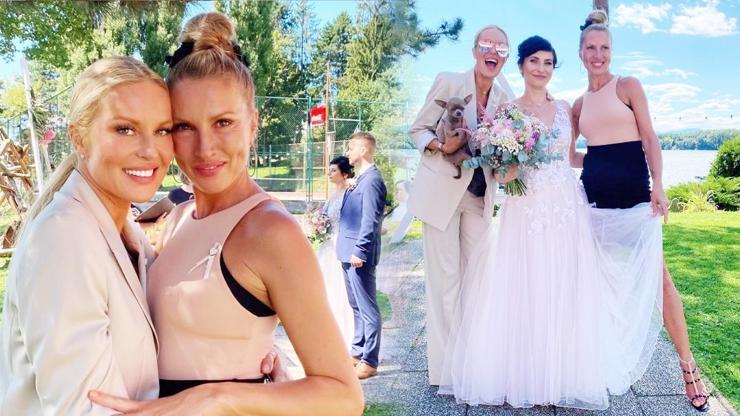 Yvona Krainová oženila syna. Na veselku vynesla nevšední model