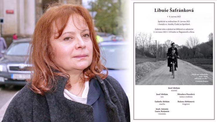 Pohřeb Libušky Šafránkové (†68) se blíží: Tajemství krásné fotografie na jejím parte