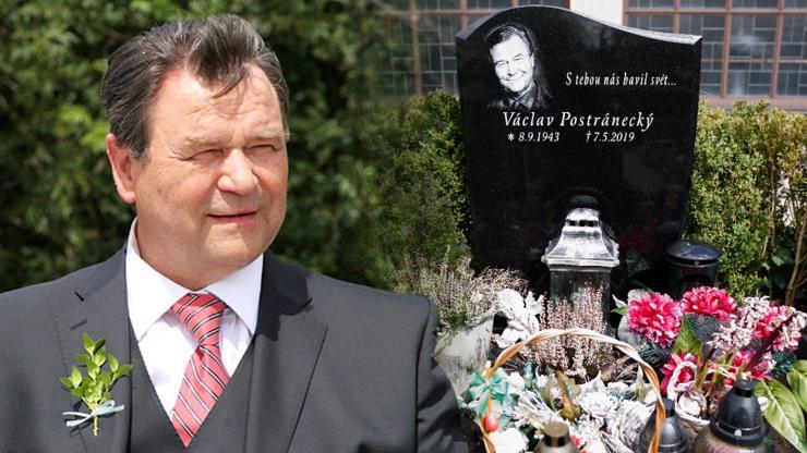 Záplava květin a anděl strážný: Takhle vypadá hrob Václava Postráneckého