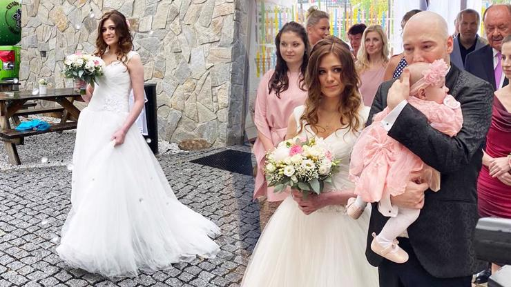 Svatba Bohuše Matuše: Pohádková nevěsta Lucie a dcerka jako růžový bonbonek