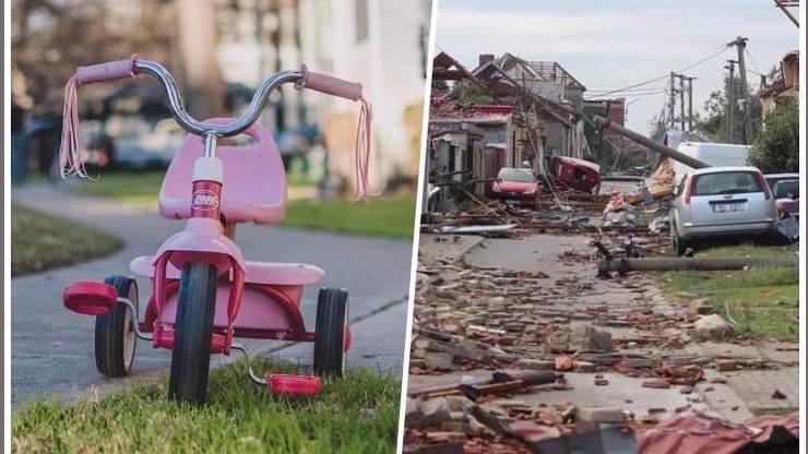 Smrtící tornádo: Po malé holčičce (†2) zbyla jen růžová tříkolka, maminka bojuje o život