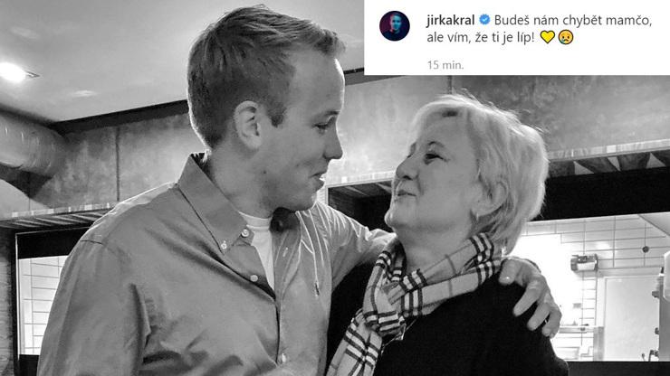 Jirka Král v slzách: Zemřela mu milovaná maminka, napsal jí dojemný vzkaz