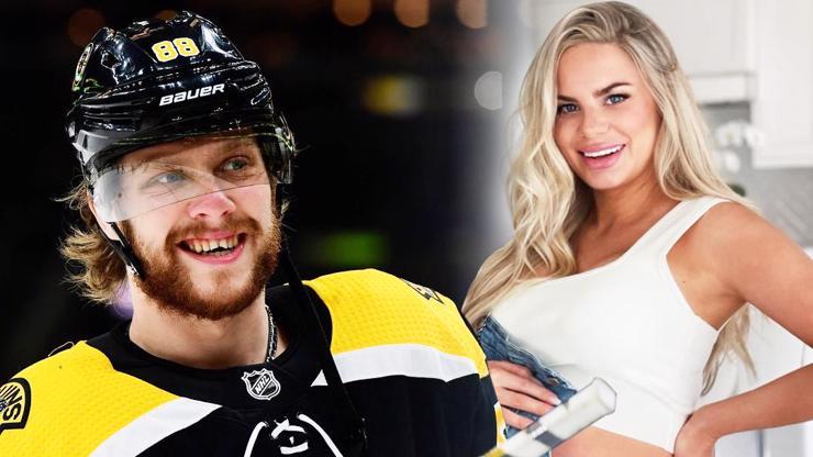 Hokejista David Pastrňák slaví 25: Krásná Rebecca mu jako dárek nadělí syna