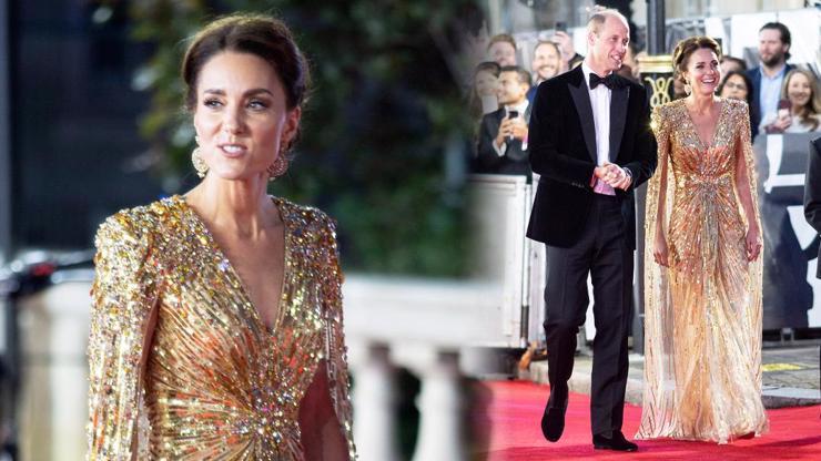 Není čas zemřít: Na premiéru nové bondovky dorazila vévodkyně Kate Middleton