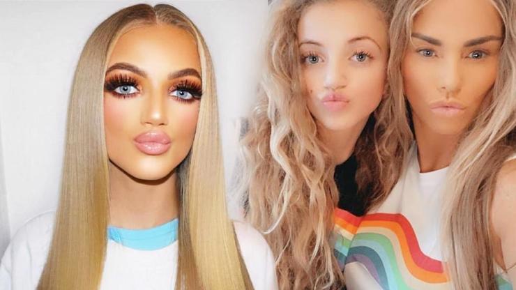 Z dcery modelky Katie Price je maškara: Dívka (13) se ztrácí pod tunou make-upu